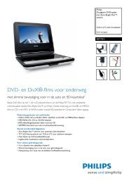 PET731/12 Philips Draagbare DVD-speler met Zero Bright Dot ...