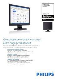 17S1SB/00 Philips LCD-monitor met SmartImage