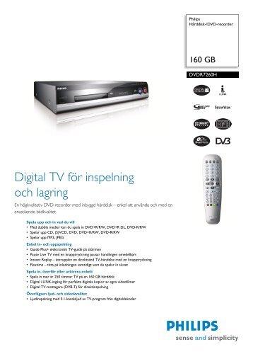 DVDR7260H/58 Philips Hårddisk-/DVD-recorder