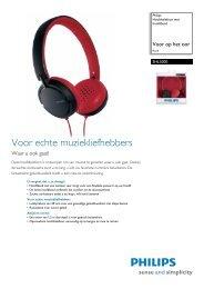 SHL5000/10 Philips Hoofdtelefoon met hoofdband