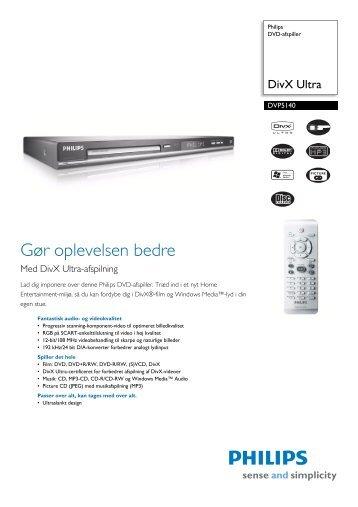 DVP5140/12 Philips DVD-afspiller