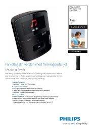 SA4RGA04KN/12 Philips MP3-afspiller med FullSound™