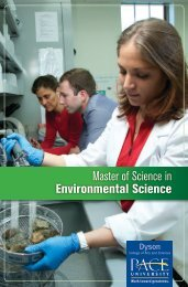 Master of Science in Environmental Science - Pace University