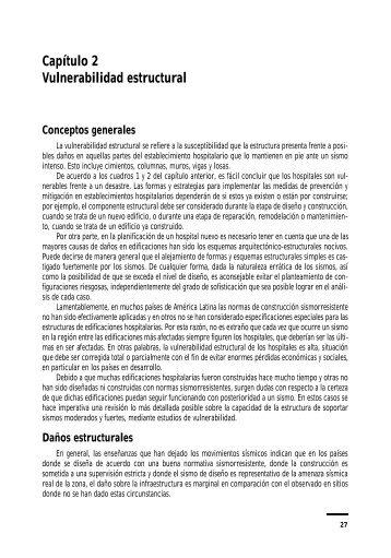 Capítulo 2 Vulnerabilidad estructural - PAHO/WHO