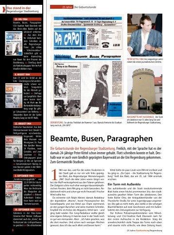 Beamte, Busen, Paragraphen - Regensburger Stadtzeitung