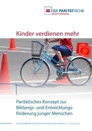 """PARITÄTISCHES Konzept """"Kinder verdienen mehr"""""""