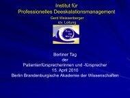 Institut für Professionelles Deeskalationsmanagement, von Gerd ...