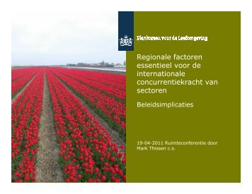 Regionale factoren essentieel voor de internationale ...