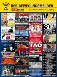 August | September 2010 Regensburg ... - Regensburger Stadtzeitung