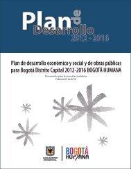 Plan de Desarrollo Distrital 2012-2016 Bogotá Humana