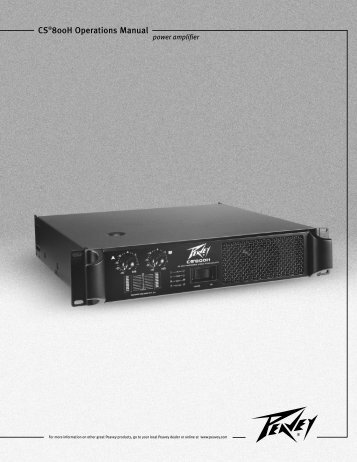 specifications du peavey pv 1200 service manual peavey pv-1200 schematic