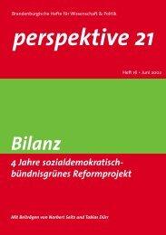Bilanz: 4 Jahre sozialdemokratisch- bündnisgrüne ... - Perspektive 21