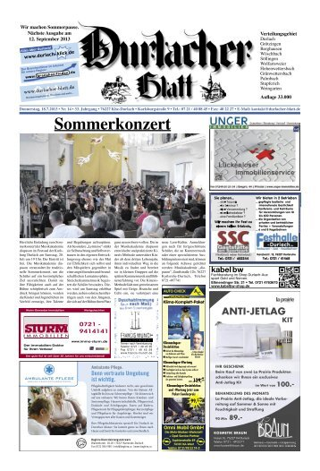 Sommerkonzert - Durlacher Blatt