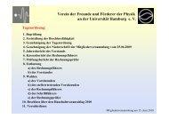 Folien zur 15. Mitgliederversammlung - Universität Hamburg