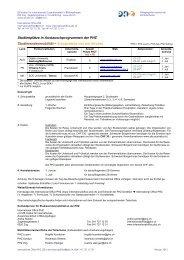 Übersicht Angebote Semesteraufenthalte CH, Übersee und Praktika ...