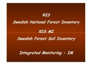 RIS Swedish National Forest Inventory RIS MI Swedish Forest Soil ...