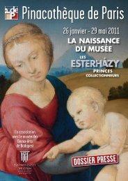 le dossier de presse de l'exposition - Pinacothèque de Paris