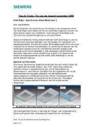 Tip van de maand november 2009 - Siemens PLM Software