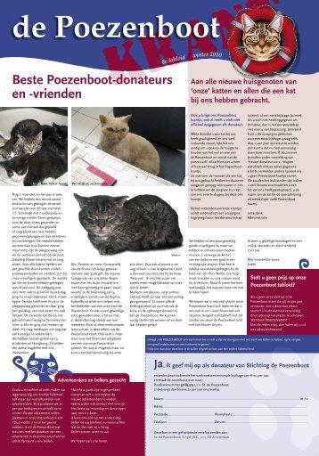 Beste Poezenboot-donateurs en -vrienden - De Poezenboot