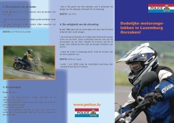 Dodelijke motoronge- lukken in Luxemburg Oorzaken!