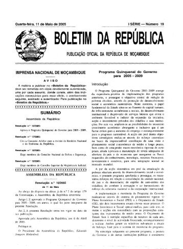 BOLETIM DA REPUBLICA - Portal do Governo de Moçambique
