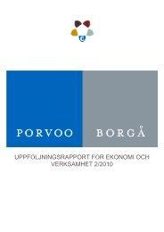 Delårsrapport 2/2010 - Porvoo