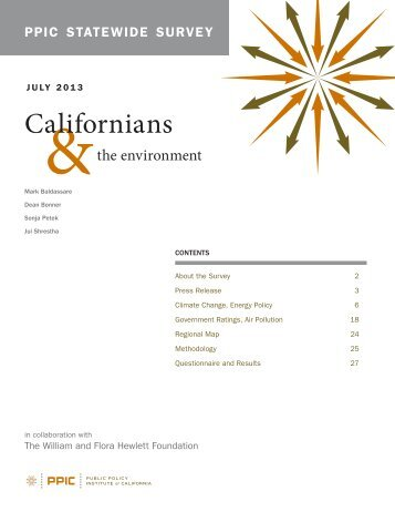 PPIC Statewide Survey - Public Policy Institute of California