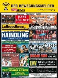 Juli 2010 Regensburg & Umgebung - Regensburger Stadtzeitung