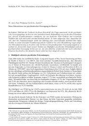 Neue Erkenntnisse zur psychiatrischen Versorgung im ... - Pro Asyl