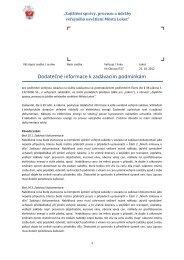 Dodatečné informace k zadávacím podmínkám - Profil zadavatele