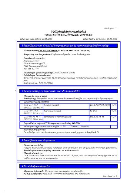 productspecificaties (pdf) - what is haccp
