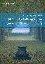 Uitvoeringsagenda Historische Buitenplaatsen ... - Provincie Utrecht