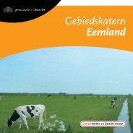 Gebiedskatern Eemland - Provincie Utrecht