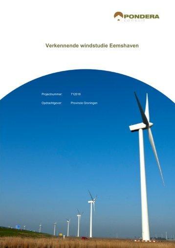 5. Verkennende windstudie Eemshaven - Provincie Groningen
