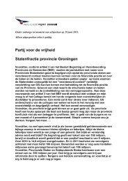 Partij voor de vrijheid Statenfractie provincie Groningen