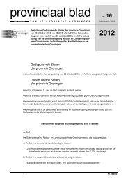 Provinciaal blad 16 van 2012 - Provincie Groningen
