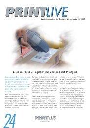 Alles im Fluss – Logistik und Versand mit Printplus