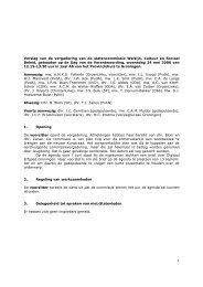 Verslag + toezeggingen WCS 24 mei 2006 - Provincie Groningen