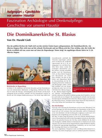 Die Dominikanerkirche St. Blasius - Regensburger Stadtzeitung