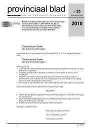 Provinciaal blad 25 van 2010 - Provincie Groningen