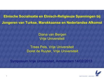 Etnische Socialisatie en Etnisch-Religieuze Spanningen bij Jongeren
