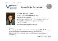 Geschichte der Psychologie - des Psychologischen Instituts ...