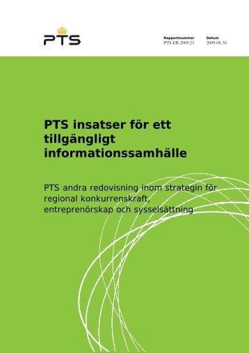 PTS insatser för ett tillgängligt informationssamhälle