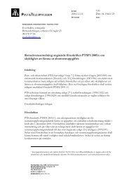 Konsekvensutredning angående föreskriften ... - och Telestyrelsen