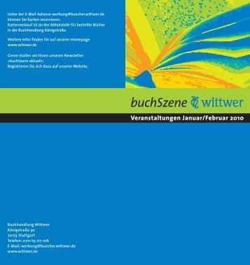 buchSzene - Buchhandlung Wittwer