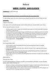 Referat fra møde i Super1600 klassen - Rallycross info