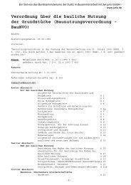 Baunutzungsverordnung - BauNVO