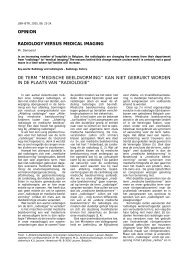 OPINION RADIOLOGY VERSUS MEDICAL IMAGING DE ... - rbrs