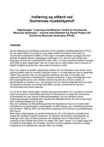 Læs mere om indlæring og adfærd ved Duchennes muskeldystrofi i