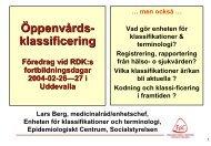 Öppenvårdsklassificering - RDK